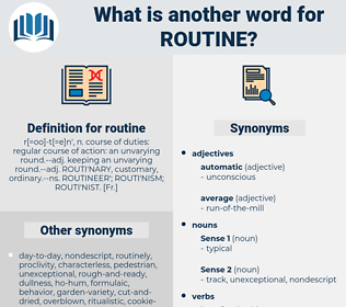 routine, synonym routine, another word for routine, words like routine, thesaurus routine