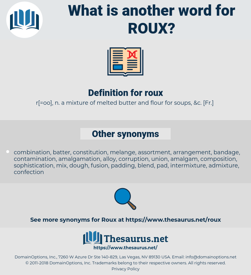 roux, synonym roux, another word for roux, words like roux, thesaurus roux