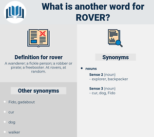 rover, synonym rover, another word for rover, words like rover, thesaurus rover