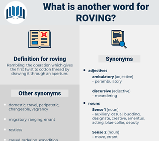 roving, synonym roving, another word for roving, words like roving, thesaurus roving