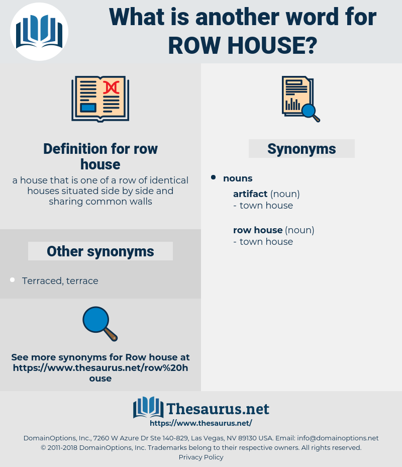row house, synonym row house, another word for row house, words like row house, thesaurus row house