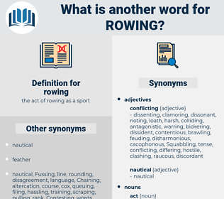 rowing, synonym rowing, another word for rowing, words like rowing, thesaurus rowing