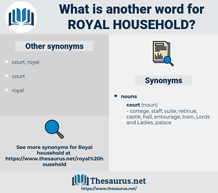 royal household, synonym royal household, another word for royal household, words like royal household, thesaurus royal household