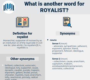 royalist, synonym royalist, another word for royalist, words like royalist, thesaurus royalist