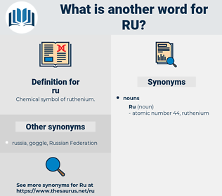 ru, synonym ru, another word for ru, words like ru, thesaurus ru