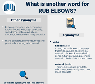 rub elbows, synonym rub elbows, another word for rub elbows, words like rub elbows, thesaurus rub elbows