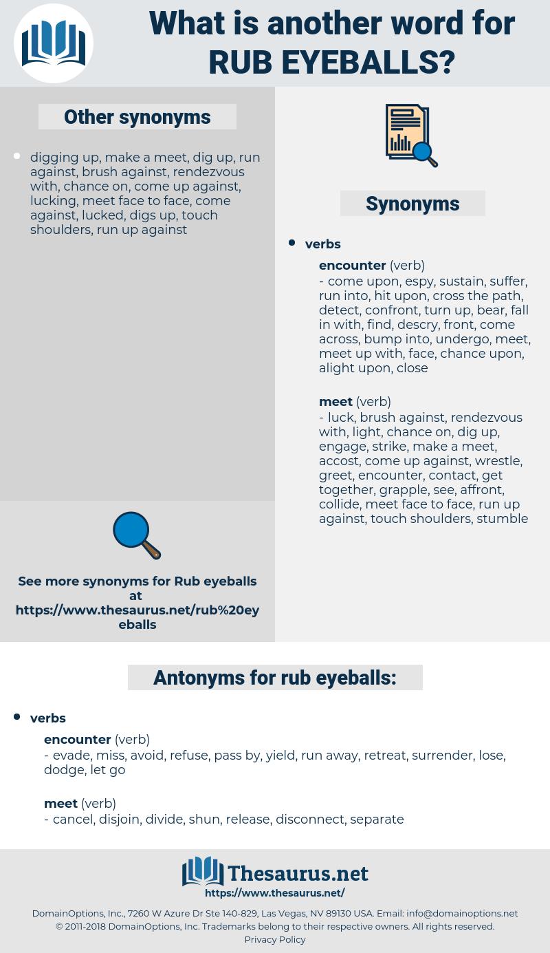 rub eyeballs, synonym rub eyeballs, another word for rub eyeballs, words like rub eyeballs, thesaurus rub eyeballs