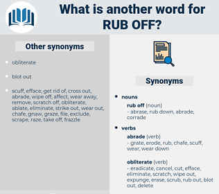 rub off, synonym rub off, another word for rub off, words like rub off, thesaurus rub off