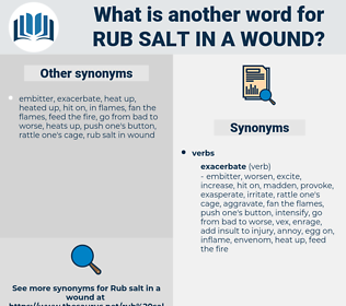 rub salt in a wound, synonym rub salt in a wound, another word for rub salt in a wound, words like rub salt in a wound, thesaurus rub salt in a wound