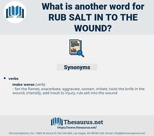 rub salt in to the wound, synonym rub salt in to the wound, another word for rub salt in to the wound, words like rub salt in to the wound, thesaurus rub salt in to the wound