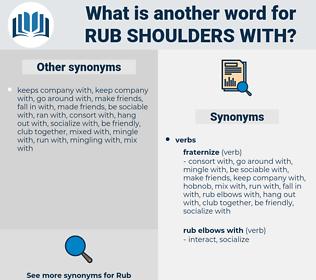rub shoulders with, synonym rub shoulders with, another word for rub shoulders with, words like rub shoulders with, thesaurus rub shoulders with