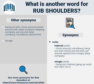 rub shoulders, synonym rub shoulders, another word for rub shoulders, words like rub shoulders, thesaurus rub shoulders