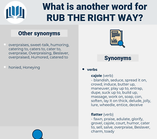 rub the right way, synonym rub the right way, another word for rub the right way, words like rub the right way, thesaurus rub the right way