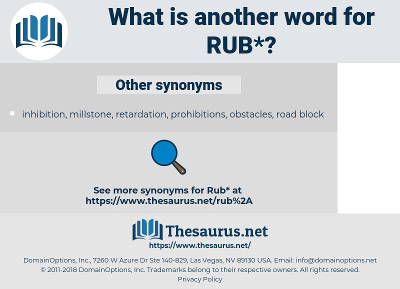 rub, synonym rub, another word for rub, words like rub, thesaurus rub