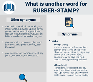 rubber stamp, synonym rubber stamp, another word for rubber stamp, words like rubber stamp, thesaurus rubber stamp