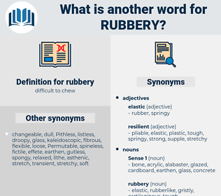 rubbery, synonym rubbery, another word for rubbery, words like rubbery, thesaurus rubbery