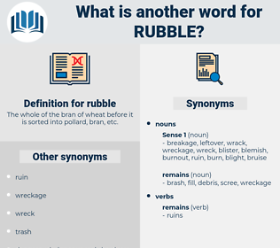 rubble, synonym rubble, another word for rubble, words like rubble, thesaurus rubble