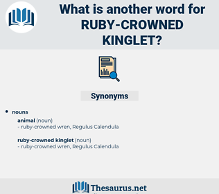 ruby-crowned kinglet, synonym ruby-crowned kinglet, another word for ruby-crowned kinglet, words like ruby-crowned kinglet, thesaurus ruby-crowned kinglet