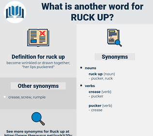 ruck up, synonym ruck up, another word for ruck up, words like ruck up, thesaurus ruck up