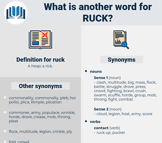 ruck, synonym ruck, another word for ruck, words like ruck, thesaurus ruck