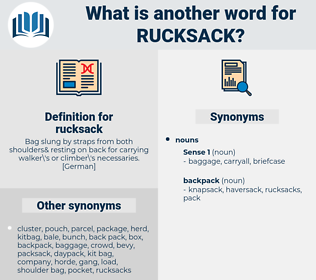 rucksack, synonym rucksack, another word for rucksack, words like rucksack, thesaurus rucksack