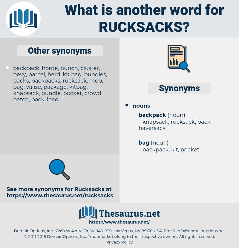 rucksacks, synonym rucksacks, another word for rucksacks, words like rucksacks, thesaurus rucksacks