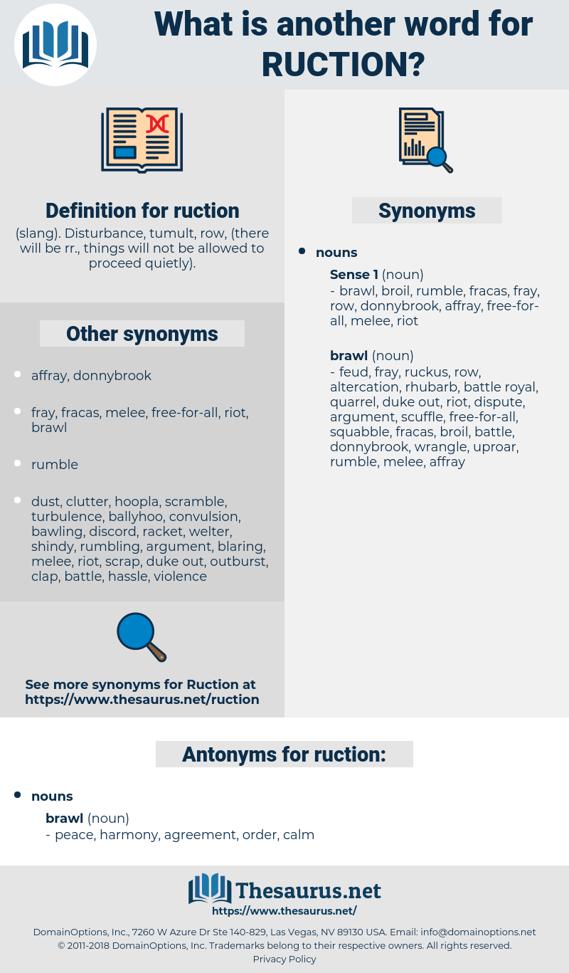 ruction, synonym ruction, another word for ruction, words like ruction, thesaurus ruction