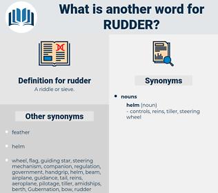 rudder, synonym rudder, another word for rudder, words like rudder, thesaurus rudder