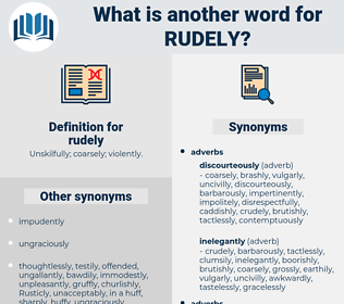 rudely, synonym rudely, another word for rudely, words like rudely, thesaurus rudely