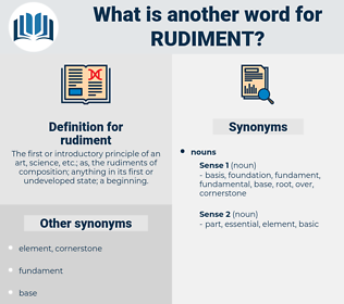 rudiment, synonym rudiment, another word for rudiment, words like rudiment, thesaurus rudiment
