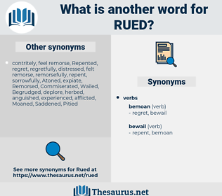 Rued, synonym Rued, another word for Rued, words like Rued, thesaurus Rued