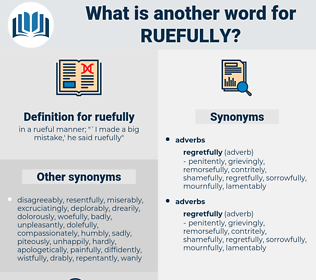 ruefully, synonym ruefully, another word for ruefully, words like ruefully, thesaurus ruefully