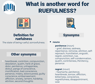 ruefulness, synonym ruefulness, another word for ruefulness, words like ruefulness, thesaurus ruefulness