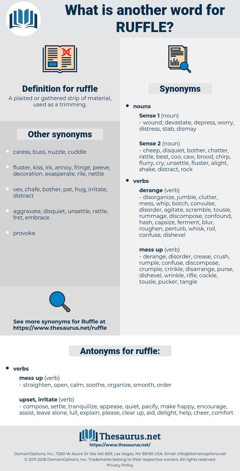 ruffle, synonym ruffle, another word for ruffle, words like ruffle, thesaurus ruffle