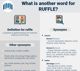 ruffle, synonym ruffle, another word for ruffle, words like ruffle, thesaurus ruffle
