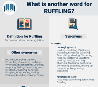Ruffling, synonym Ruffling, another word for Ruffling, words like Ruffling, thesaurus Ruffling