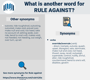 rule against, synonym rule against, another word for rule against, words like rule against, thesaurus rule against