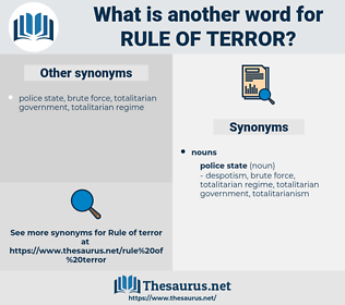 rule of terror, synonym rule of terror, another word for rule of terror, words like rule of terror, thesaurus rule of terror