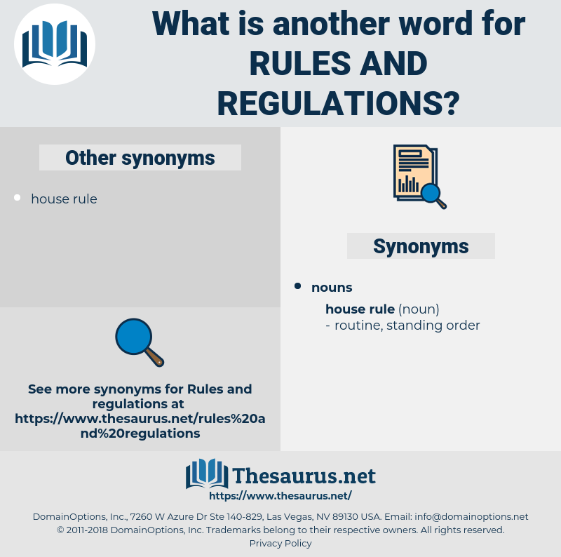rules and regulations, synonym rules and regulations, another word for rules and regulations, words like rules and regulations, thesaurus rules and regulations
