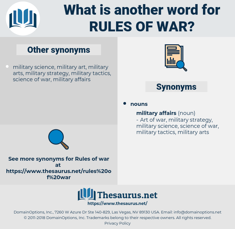 rules of war, synonym rules of war, another word for rules of war, words like rules of war, thesaurus rules of war