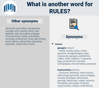 rules, synonym rules, another word for rules, words like rules, thesaurus rules