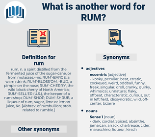 rum, synonym rum, another word for rum, words like rum, thesaurus rum