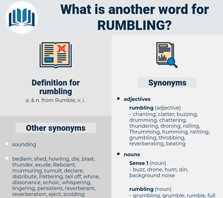 rumbling, synonym rumbling, another word for rumbling, words like rumbling, thesaurus rumbling