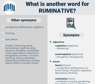 ruminative, synonym ruminative, another word for ruminative, words like ruminative, thesaurus ruminative
