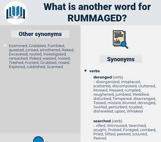 Rummaged, synonym Rummaged, another word for Rummaged, words like Rummaged, thesaurus Rummaged