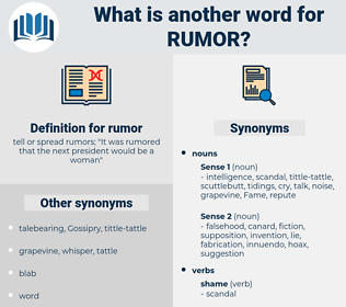 rumor, synonym rumor, another word for rumor, words like rumor, thesaurus rumor