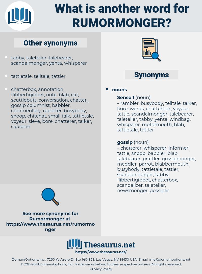 rumormonger, synonym rumormonger, another word for rumormonger, words like rumormonger, thesaurus rumormonger