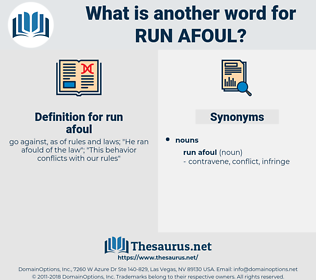 run afoul, synonym run afoul, another word for run afoul, words like run afoul, thesaurus run afoul