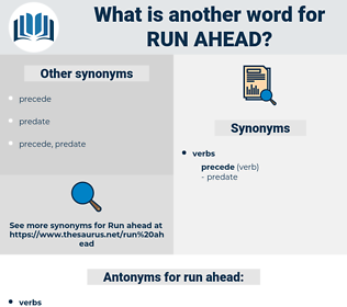 run ahead, synonym run ahead, another word for run ahead, words like run ahead, thesaurus run ahead