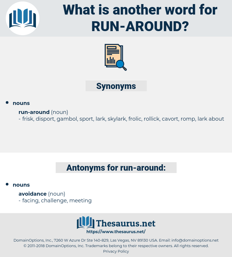 run around, synonym run around, another word for run around, words like run around, thesaurus run around